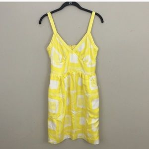 Banana republicYellow and white silk summer dress